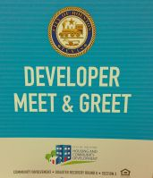 "City of Houston held a ""meet & greet"" for developers to meet the neighborhoods  November 18-20, 2013."