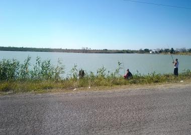 Fishing at Donna Lake earlier this year.