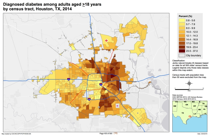 Health inequalities are strongly reflected in Houstons