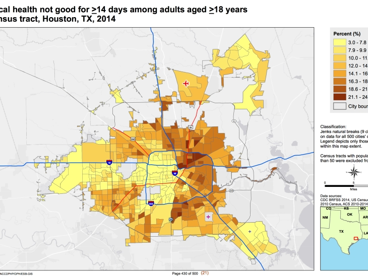 Health Inequalities Are Strongly Reflected In Houstons Residential - Map-of-segregation-in-us